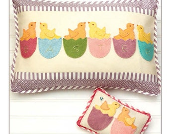 Clearance PATTERN EASTER PEEPS Pillow and Pin Cushion by Bunny Hill Designs