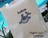 Boys personalized Canvas tote Summer great ring bearer gift