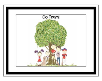 DEPOSIT Team - 9 x 14 Framed Illustration