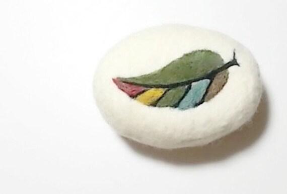 Items similar to Felt Soap Multi Color Leaf Needle Felted on Etsy