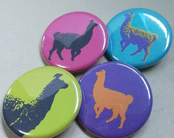 Llama Magnets – Refrigerator Magnets – Fridge Magnets – Llama Gifts – Llama Party Favor – Housewarming Gift – Locker Magnets – Llama Lovers
