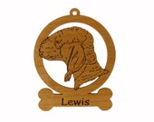 Bedlington Terrier Ornament 081584 Personalized With Your Dog's Name