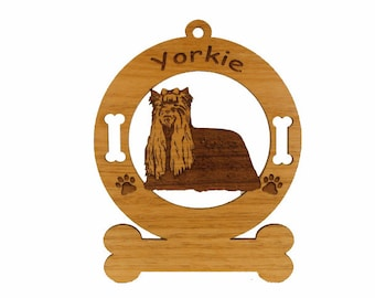 4253 Yorkie Standing Personalized Dog Ornament
