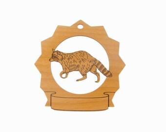 Raccoon Pesonalized Wood Ornament