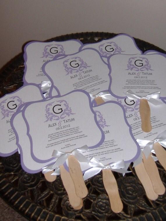 Items Similar To Wedding Fans Wedding Fan Program