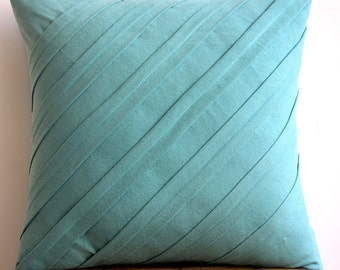 Teal N Silver Rings Throw Pillow Covers 20x20 By