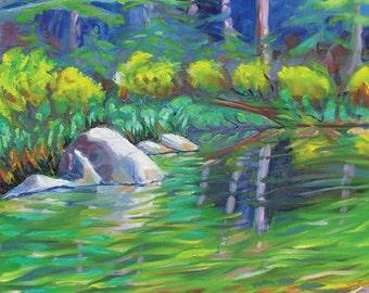 Smith River 4 original California landscape oil painting