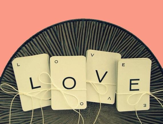 Vintage Letter Cards- Alphabet Mini Cards 1960's, Set of 96 Cards- Vintage Valentines Day Home Decor