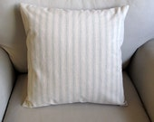 COTTAGE CASUAL Organic cotton in spa color stripes pillow cover 16-17-18-19-20-21-22