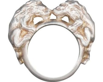 Twin Lion Ring