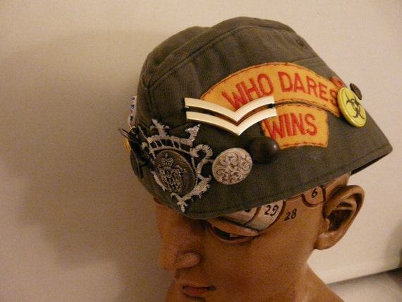 Special Order for Iihatecelery -  Who Dares Wins Military Decorated Side Hat in Khaki.