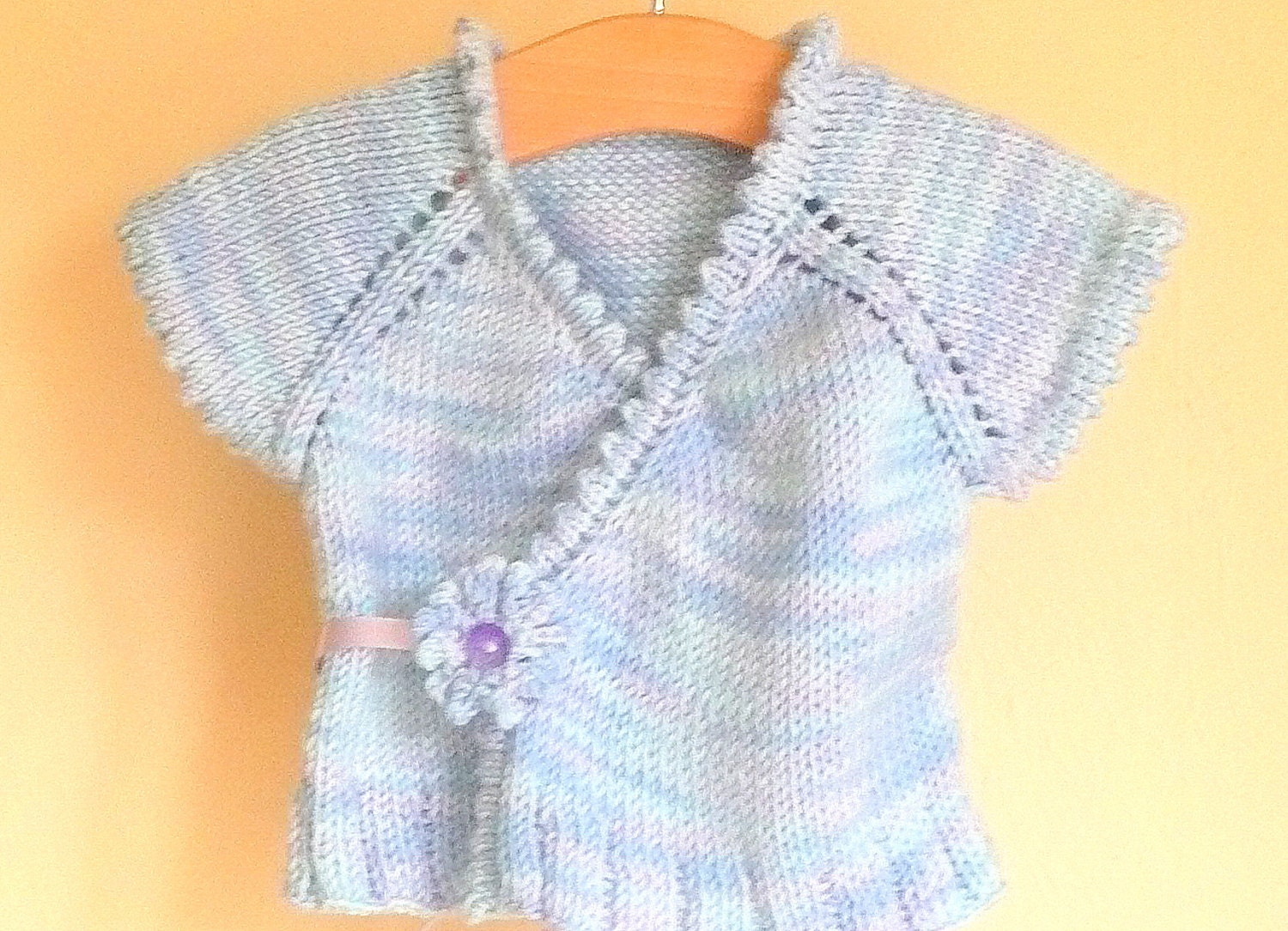 Knitting Pattern Crossover Top Down Cardigan Vest by ceradka