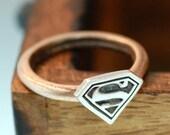 Superman Superwoman Unisex  Ring