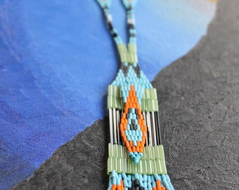 Color Dream Beaded Fringe Necklace