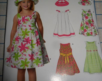 NEW LOOK Girls Pattern 6693 - Dress and Hat - Uncut pattern - Never Used