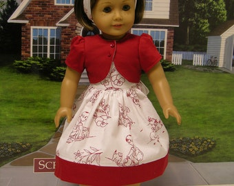 At Play dress for American Girl doll with jacket