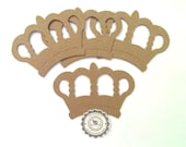 Crown, Chipboard French Royal Queen Crown, no.143 Chipboard Die Cuts Set of 4 Chipboard Crown by Annie42
