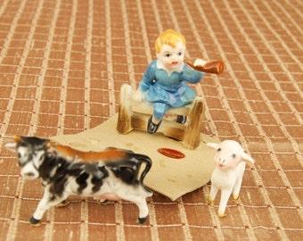 Vintage Enesco Japan Little Boy Blue Miniature