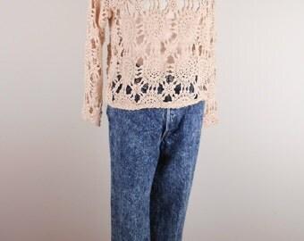 vintage 1980's Acid Washed Women's Denim Levi Strauss Jeans USA LEVIS SZ 11