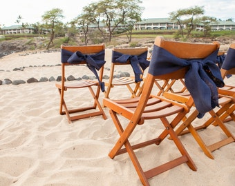 Burlap Chair Sash - 54 colors available - Set of 10