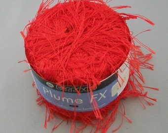 Berroco Plume FX Yarn in Red Color 6755 - destash by foxygknits