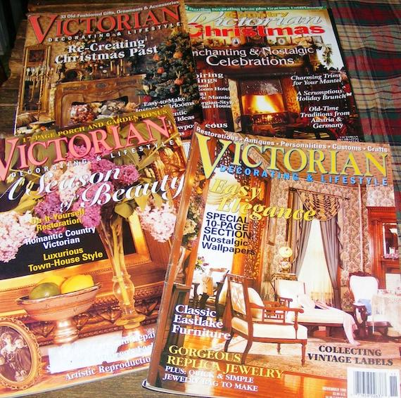Magazine Country Decorating Ideas: Victorian Decorating Lifestyle Magazine Lot Nov July 1999