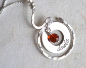 Doula Sterling Silver Necklace Amber