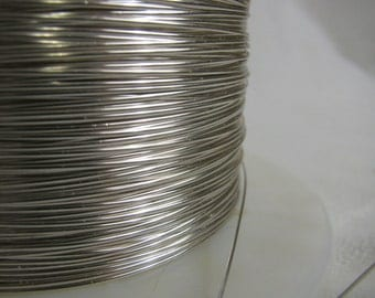 5 ft of 20 gauge half round half hard Sterling Silver Wire for Wrapping etc