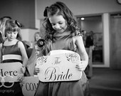 Here Comes The Bride Wedding Signs ~ set of 3 ~ 15x7 Flower Girls Ring Bearer