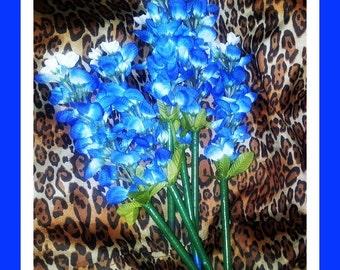 Extra Long Bluebonnet  Flower Pen