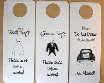 Set of 3 Suite Door Hangers - Standard Design