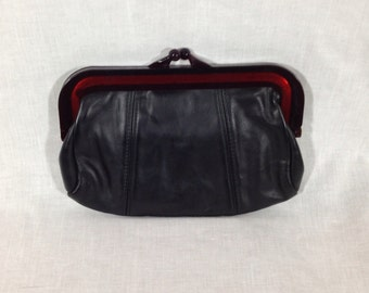 Vintage Black Kisslock Clutch