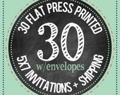 30 - 5x7 Flat Press Printed Cards with envelopes : PRINTING SERVICES