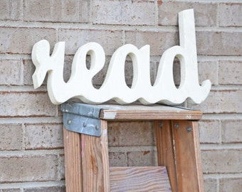 Cottage Style Read Sign Chic Decor