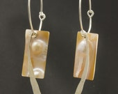 "Mother of Pearl with Sterling Silver ""Bauble"" Earrings"