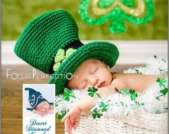 Crochet Pattern 078 - Lucky Leprechaun Hat - All Sizes