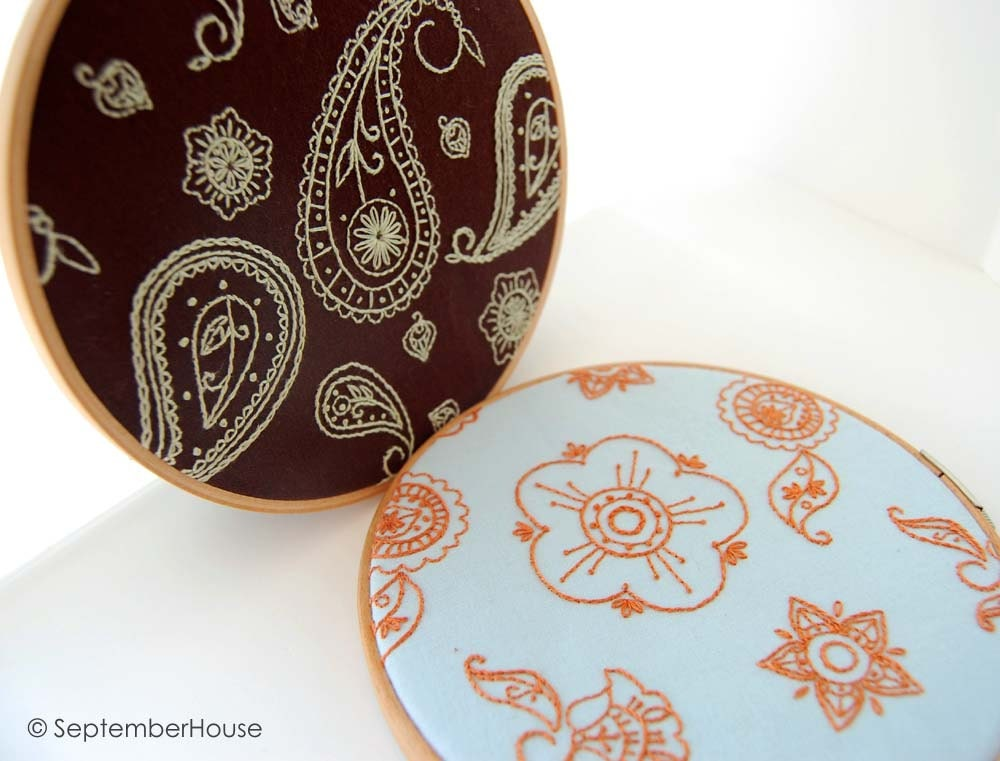 Hand Embroidery Patterns INDIAN SPICE Paisley And Flower