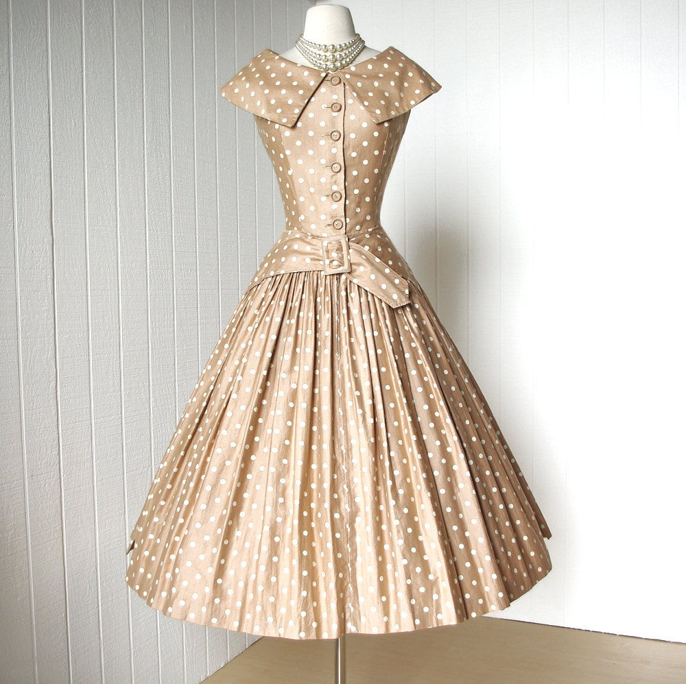 vintage 1950's dress ...dior inspired SUZY PERETTE new