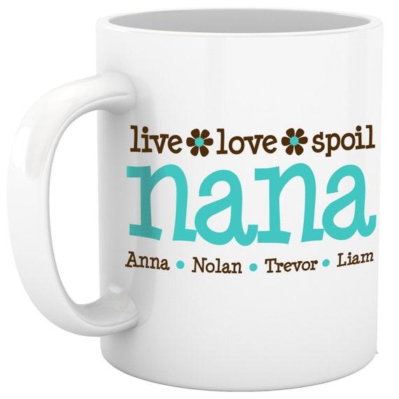 personalized coffee mug grandma nana mug custom with grandkids names PNLLSM
