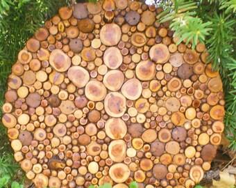 Algiz Shield Wall Hanging Wood Art