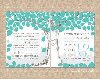 Wedding Guest book, Alternative Wedding Guestbook, Wedding Song Guest Book // W-T06-2PS HH5