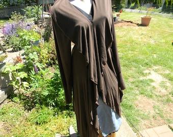 Gorgeous Jacket in Brown Italian Wool Crepe