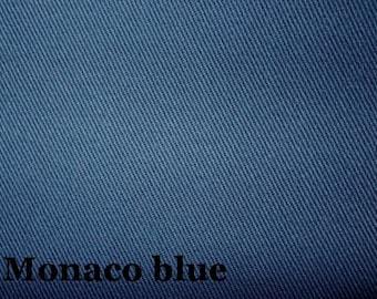 12 oz Monaco Blue Twill Pre Shrunk Cotton Fabric Slipcovers Apparel Upholstery