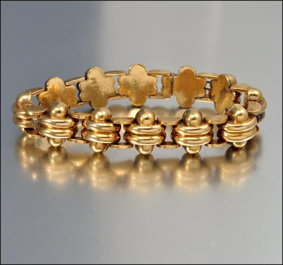 RESERVED Vintage Rolled Gold Plate Bracelet Panther Link