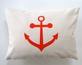 Pillow Cover - Cushion Cover - Anchor - 12 x 16 inches - Choose your fabric and ink color