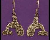 KILLER WHALE- Earrings- Bronze