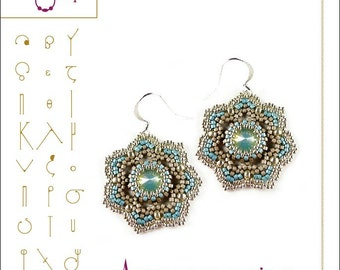 beading pattern Ameur earring...PDF instruction for personal use only