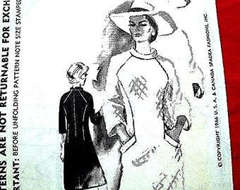 1960s Spadea Dress Pattern Designer Duchess of Windsor Misses size 14 UNCUT Vintage Sewing Pattern