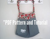 PDF Pattern Pleated Tote Made From Two Pillowcases Plus Bonus Stencilling Tutorial