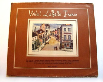 Set of 4 Vintage 1953 France Paris Prints by  J. Anthony Buzzelli